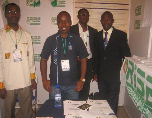 Quelques membres de la délégation du RISE à ACCRA (Guillaume , Mamadou, Samuel et Guy Assane)